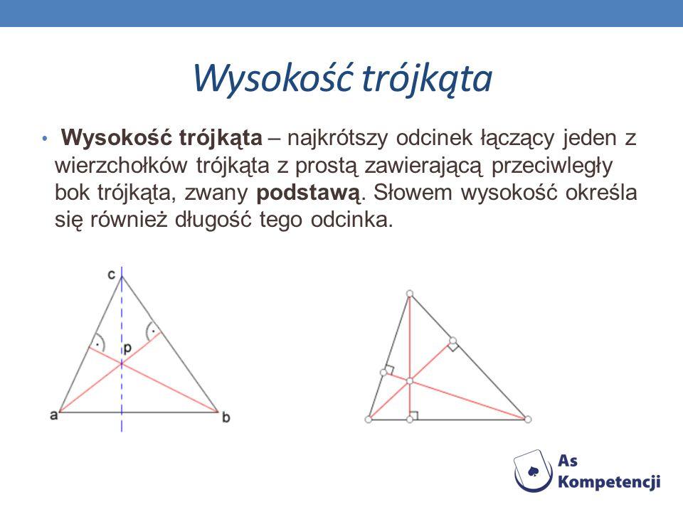 Środkowa trójkąta Środkowa trójkąta – odcinek łączący wierzchołek trójkąta ze środkiem przeciwległego boku; czasem tak nazywa się też prostą zawierającą ten odcinek.