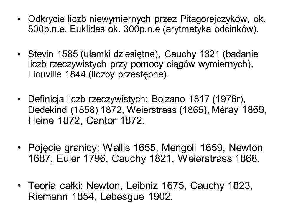 Spór o konstruktywność matematyki Georg Ferdinand Cantor (1845 – 1918) Leopold Kronecker (1823-1891) Bóg stworzył liczby naturalne; resztę wymyślił człowiek