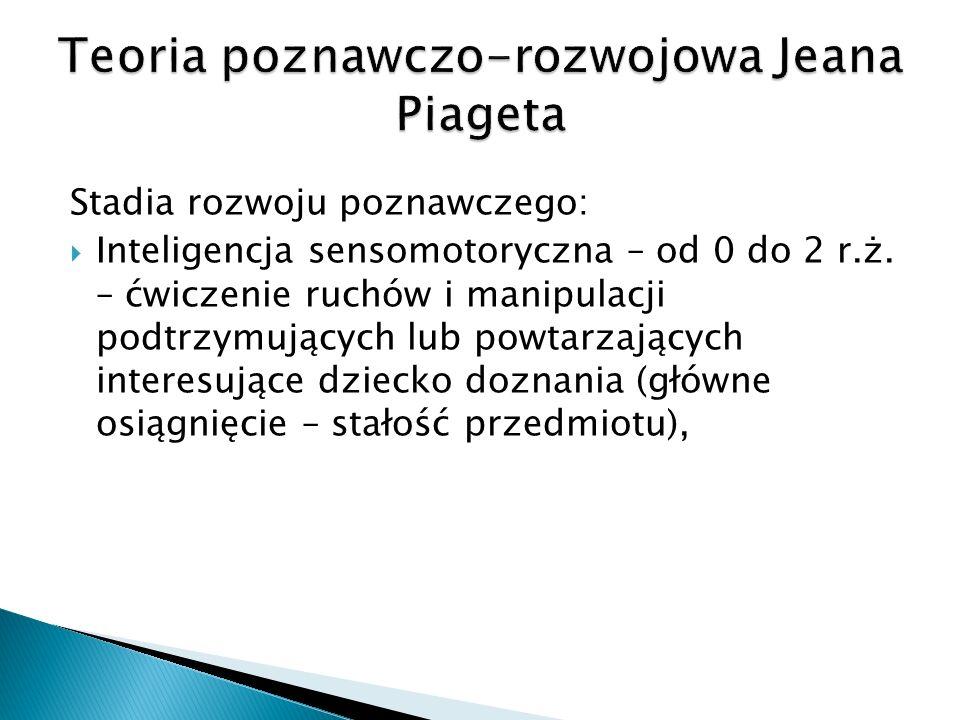Stadia rozwoju poznawczego: Inteligencja sensomotoryczna – od 0 do 2 r.ż.