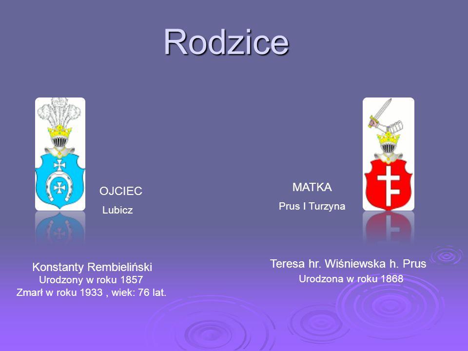 URODZONY we wrześniu 1775 w Warszawie URODZONY we wrześniu 1775 w Warszawie Ród Rembielińskich wywodził się z Rembielina k.Chorzel w powiecie przasnys