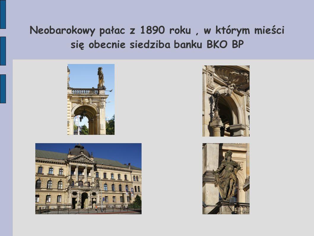 Neobarokowy pałac z 1890 roku, w którym mieści się obecnie siedziba banku BKO BP