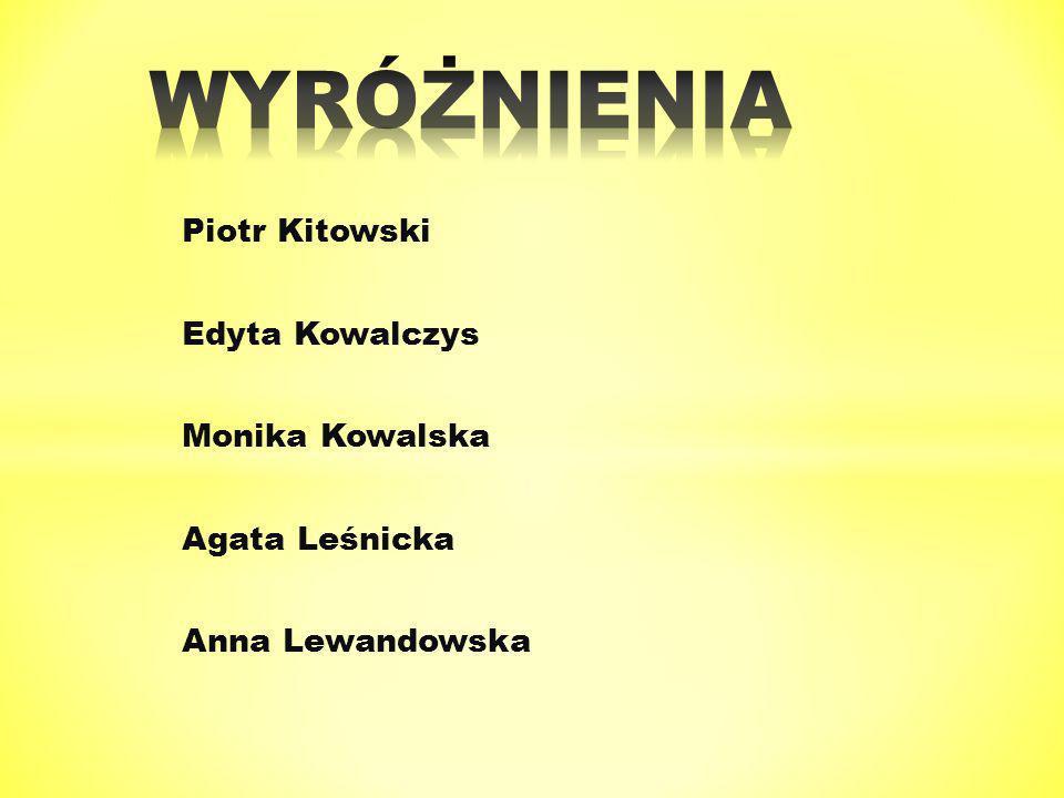 Piotr Kitowski Edyta Kowalczys Monika Kowalska Agata Leśnicka Anna Lewandowska