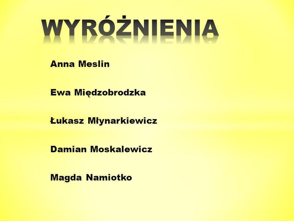 Anna Meslin Ewa Międzobrodzka Łukasz Młynarkiewicz Damian Moskalewicz Magda Namiotko