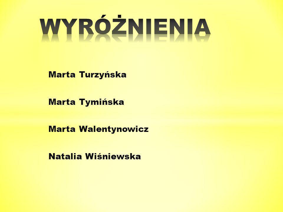 Marta Turzyńska Marta Tymińska Marta Walentynowicz Natalia Wiśniewska