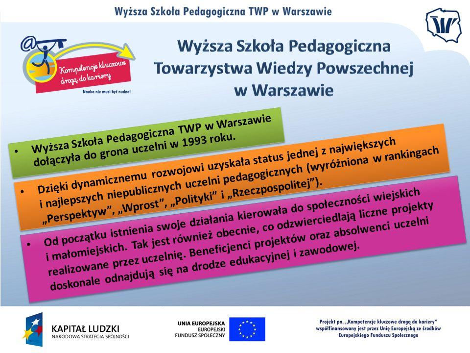 Wyższa Szkoła Pedagogiczna TWP w Warszawie dołączyła do grona uczelni w 1993 roku. Dzięki dynamicznemu rozwojowi uzyskała status jednej z największych