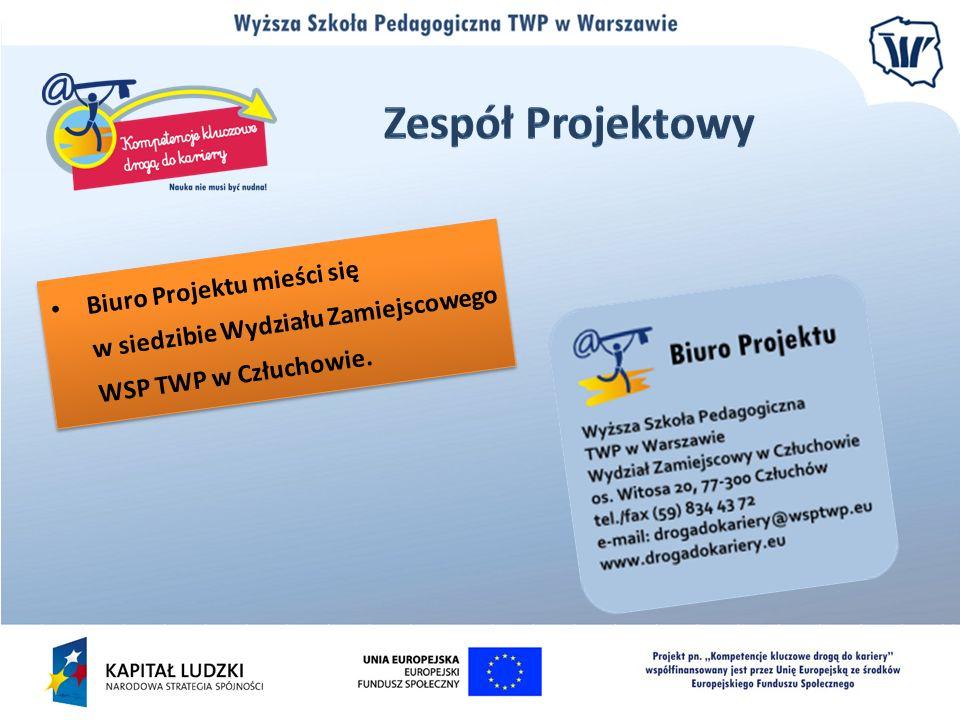 Biuro Projektu mieści się w siedzibie Wydziału Zamiejscowego WSP TWP w Człuchowie.