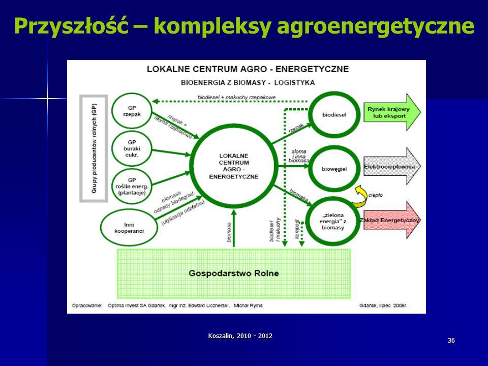 Koszalin, 2010 - 2012 36 Przyszłość – kompleksy agroenergetyczne