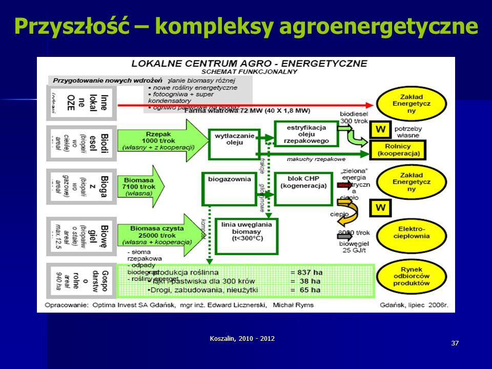 Koszalin, 2010 - 2012 37 Przyszłość – kompleksy agroenergetyczne
