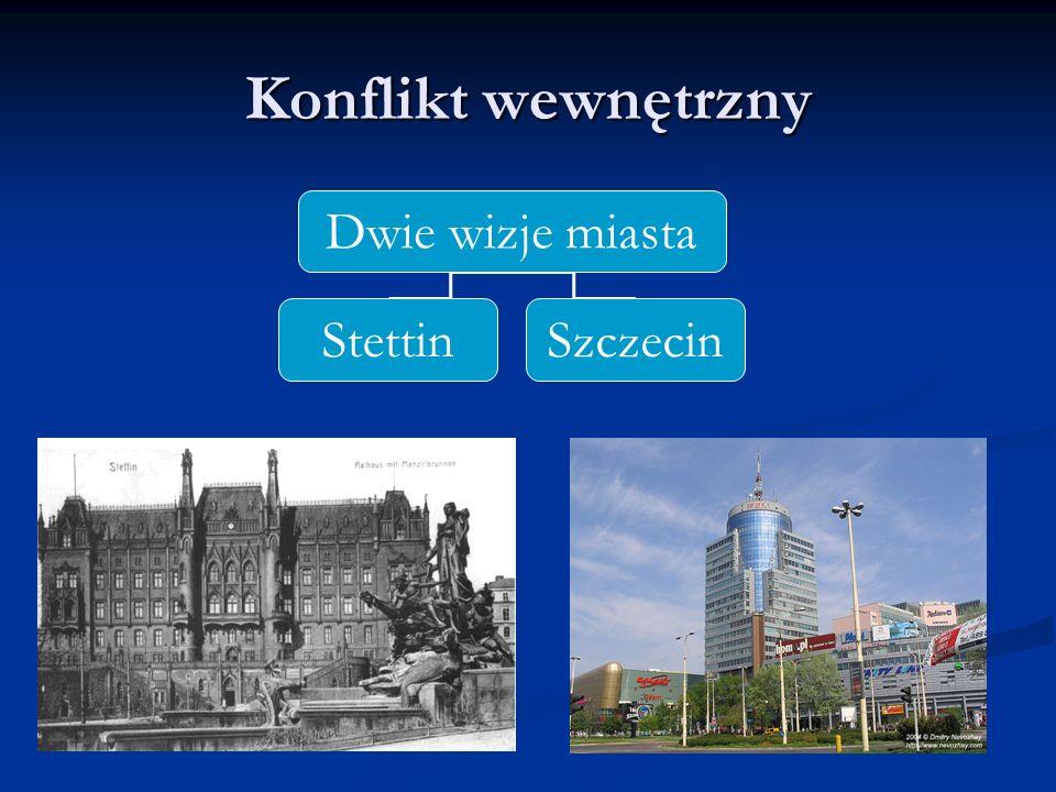 Konflikt wewnętrzny Dwie wizje miasta StettinSzczecin
