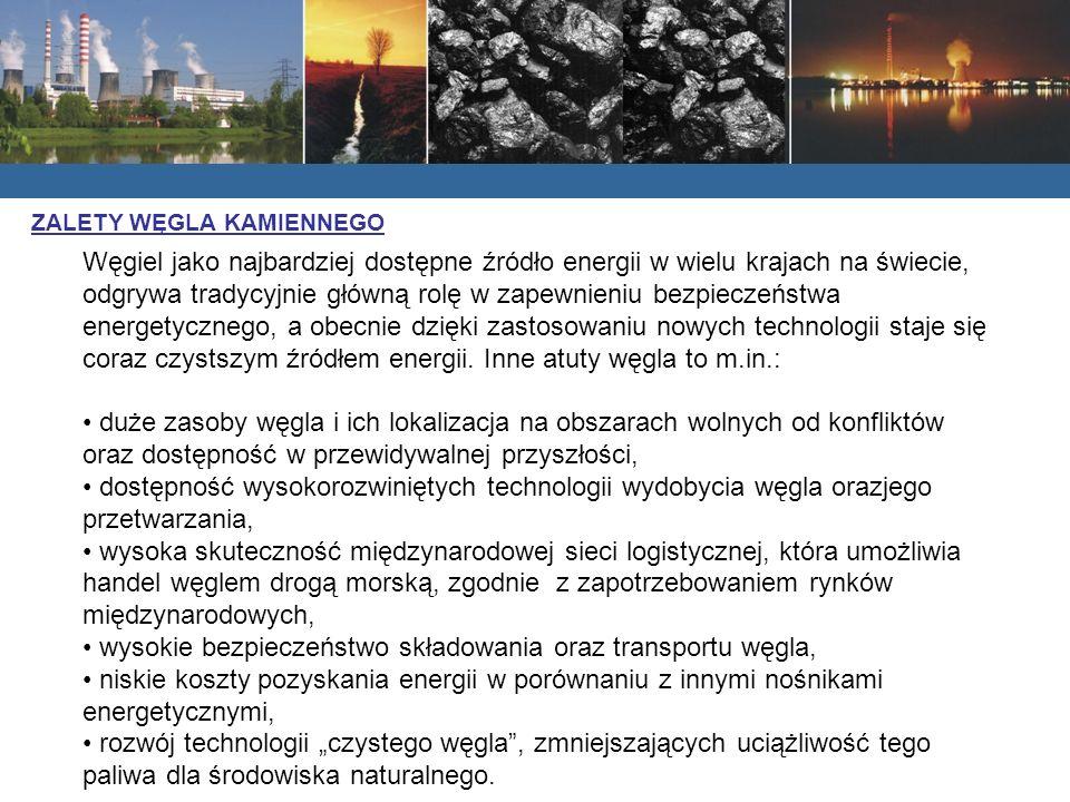 Węgiel jako najbardziej dostępne źródło energii w wielu krajach na świecie, odgrywa tradycyjnie główną rolę w zapewnieniu bezpieczeństwa energetyczneg
