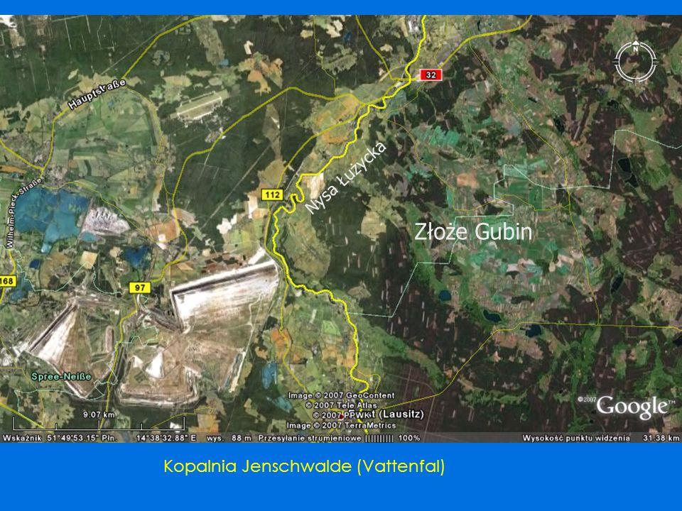 Złoże Gubin Nysa Łużycka Kopalnia Jenschwalde (Vattenfal)