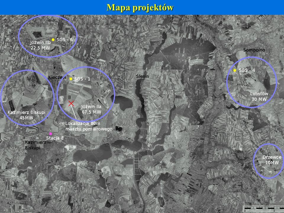 Mapa projektów