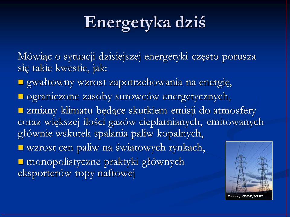 Energetyka dziś Mówiąc o sytuacji dzisiejszej energetyki często porusza się takie kwestie, jak: gwałtowny wzrost zapotrzebowania na energię, gwałtowny