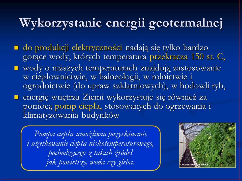 Wykorzystanie energii geotermalnej do produkcji elektryczności nadają się tylko bardzo gorące wody, których temperatura przekracza 150 st. C, do produ
