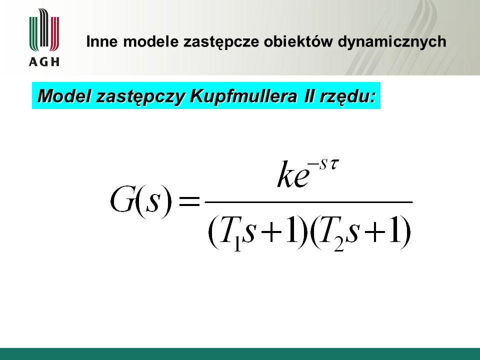 Model zastępczy Kupfmullera II rzędu: Inne modele zastępcze obiektów dynamicznych