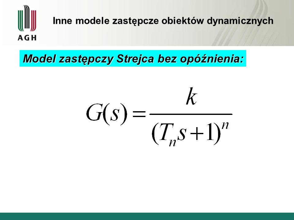 Model zastępczy Strejca bez opóźnienia: Inne modele zastępcze obiektów dynamicznych