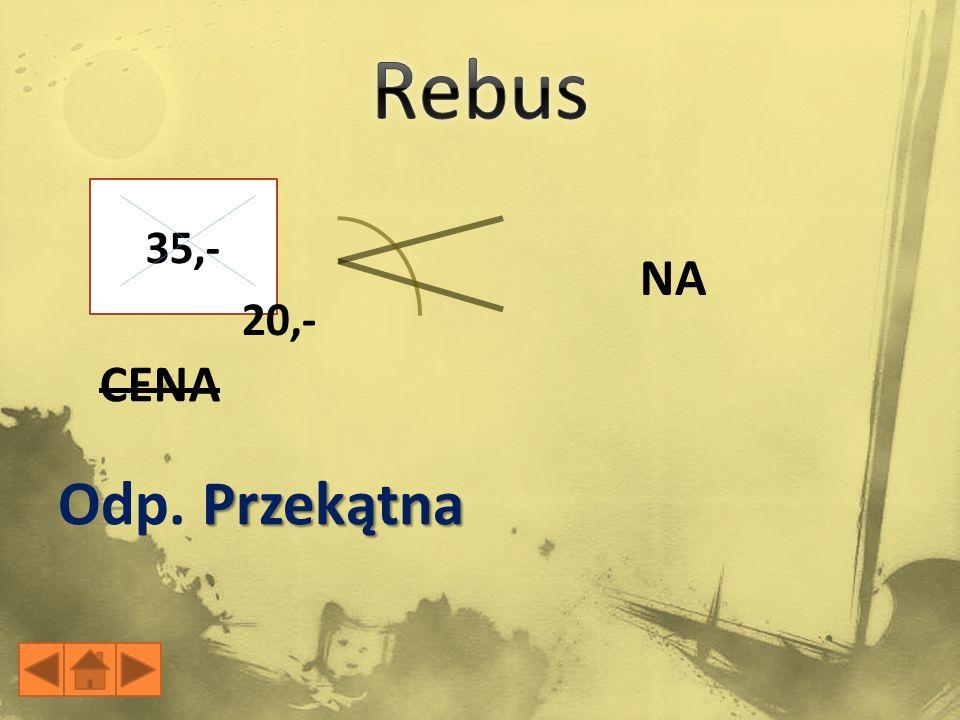 35,- 20,- NA CENA Przekątna Odp. Przekątna