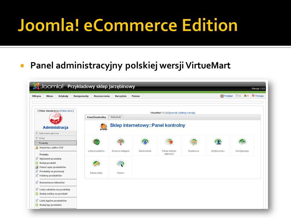 Panel administracyjny polskiej wersji VirtueMart