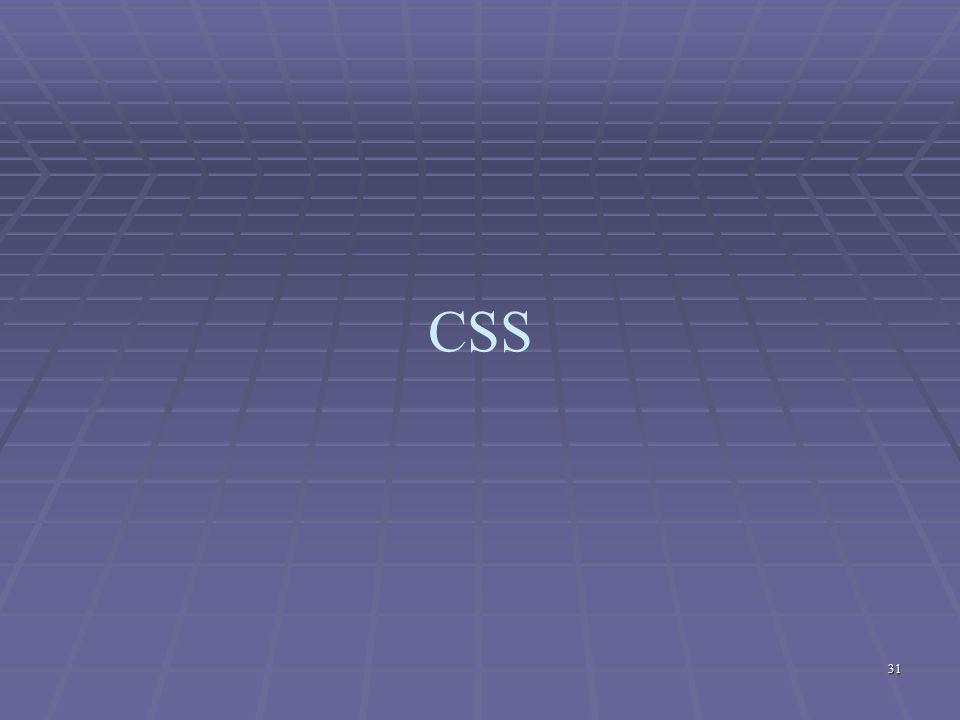 31 CSS