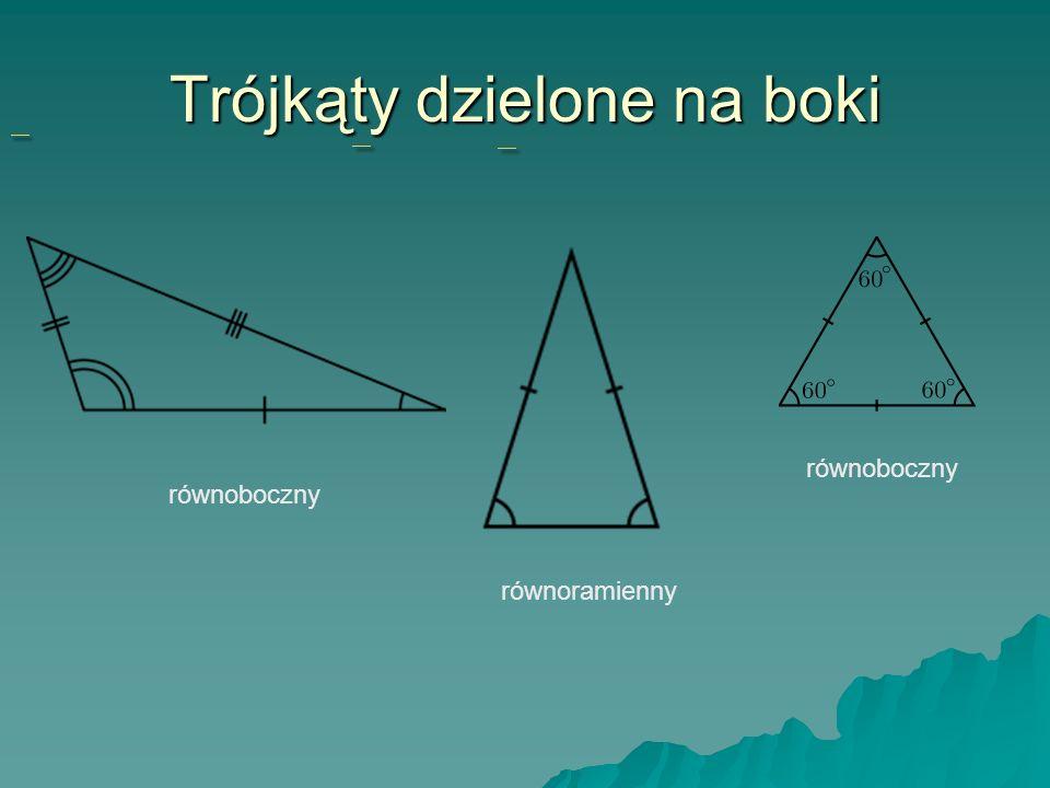 Trójkąty dzielone na boki równoboczny równoramienny równoboczny