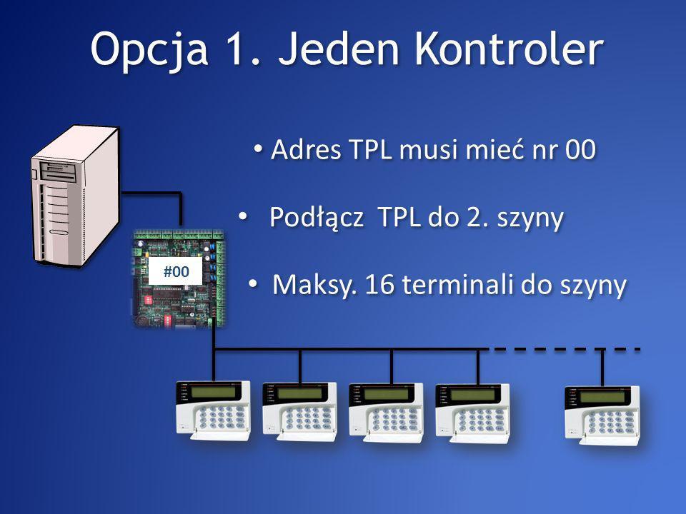 Opcja 1. Jeden Kontroler Podłącz TPL do 2. szyny Maksy.