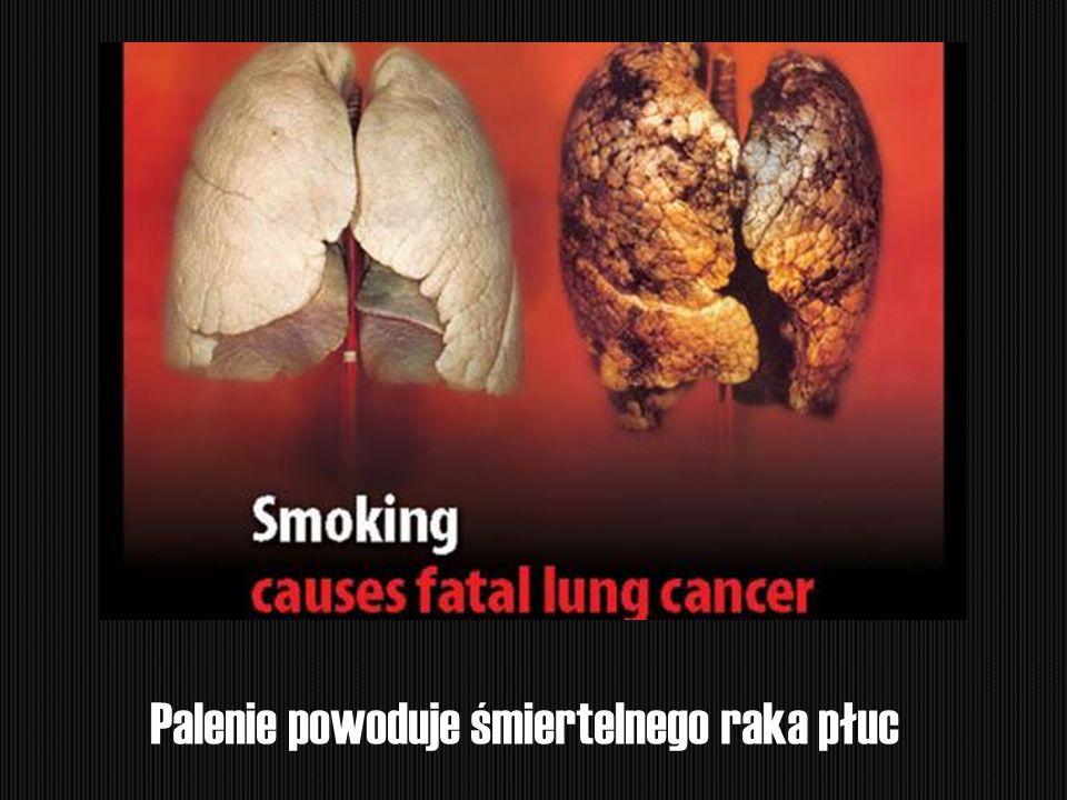 Palenie powoduje śmiertelnego raka płuc