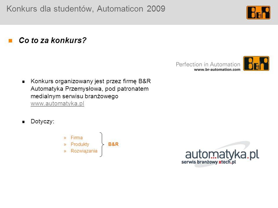 Konkurs dla studentów, Automaticon 2009 Co to za konkurs.