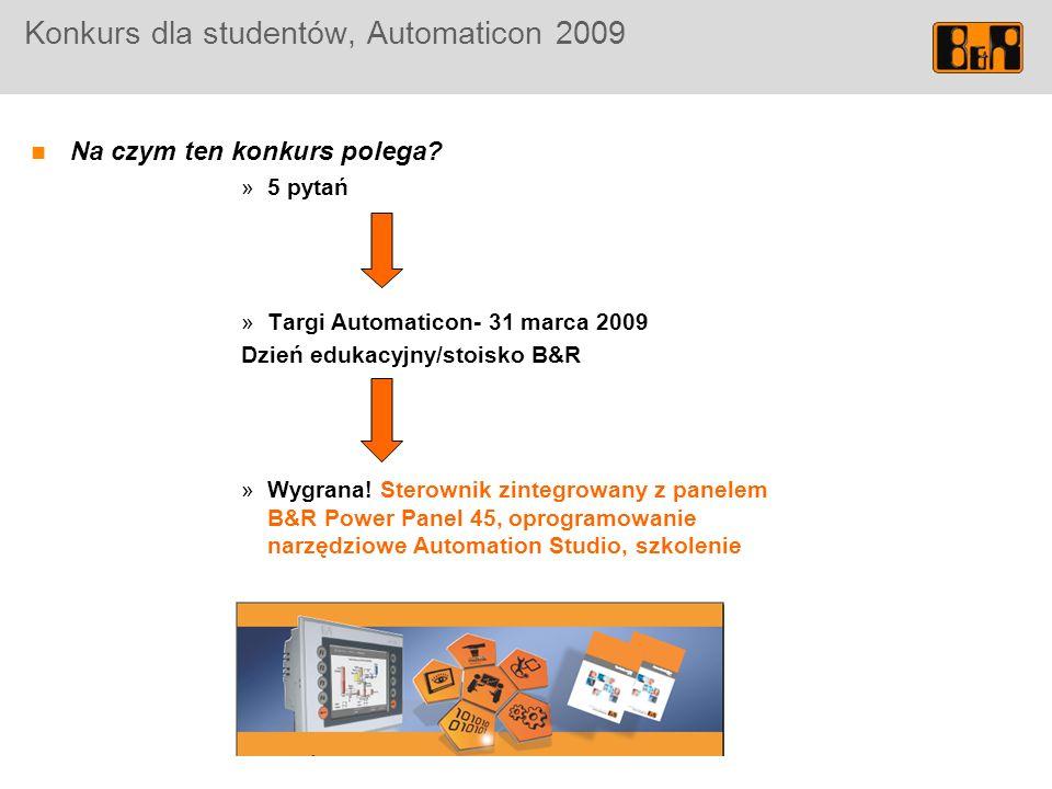 Konkurs dla studentów, Automaticon 2009 Na czym ten konkurs polega.