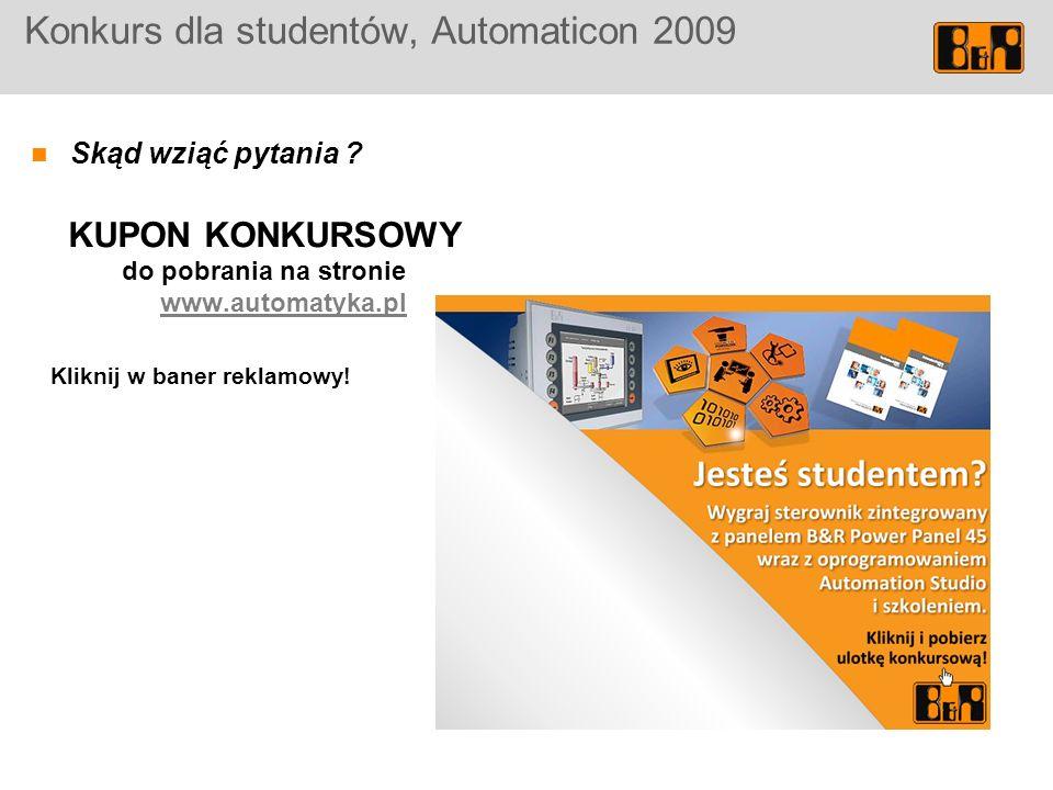 Konkurs dla studentów, Automaticon 2009 Skąd wziąć pytania .
