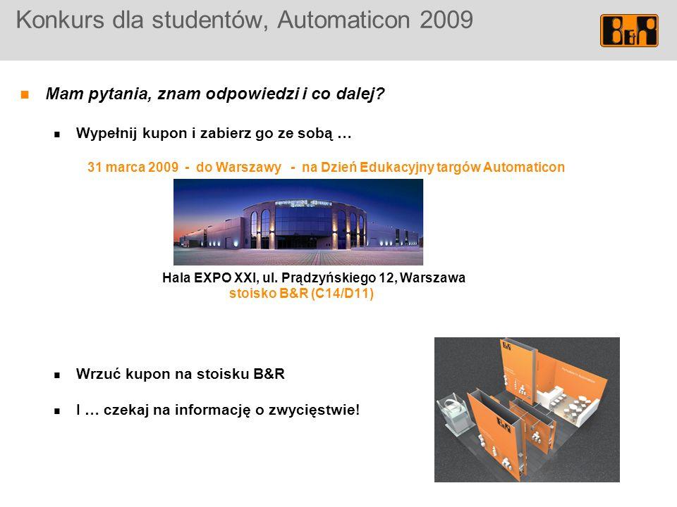 Konkurs dla studentów, Automaticon 2009 Mam pytania, znam odpowiedzi i co dalej.