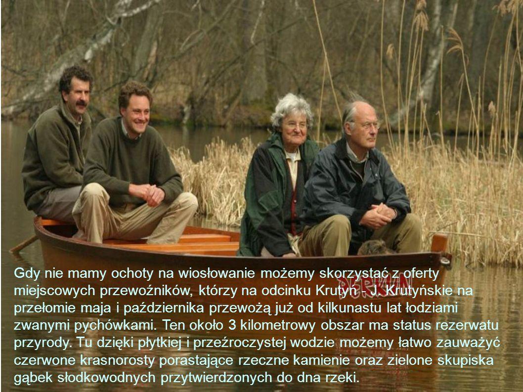 Gdy nie mamy ochoty na wiosłowanie możemy skorzystać z oferty miejscowych przewoźników, którzy na odcinku Krutyń - J.