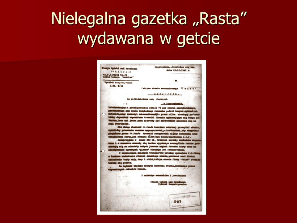 Nielegalna gazetka Rasta wydawana w getcie