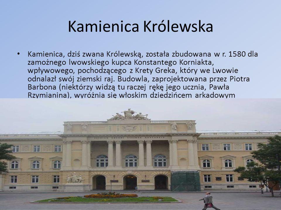 Cerkiew Wniebowzięcia Maryi Panny Cerkiew Wniebowzięcia Najświętszej Maryi Panny we Lwowie została wzniesiona w stylu renesansowym w latach 1591-1629 z inicjatywy Bractwa Uspienskiego.