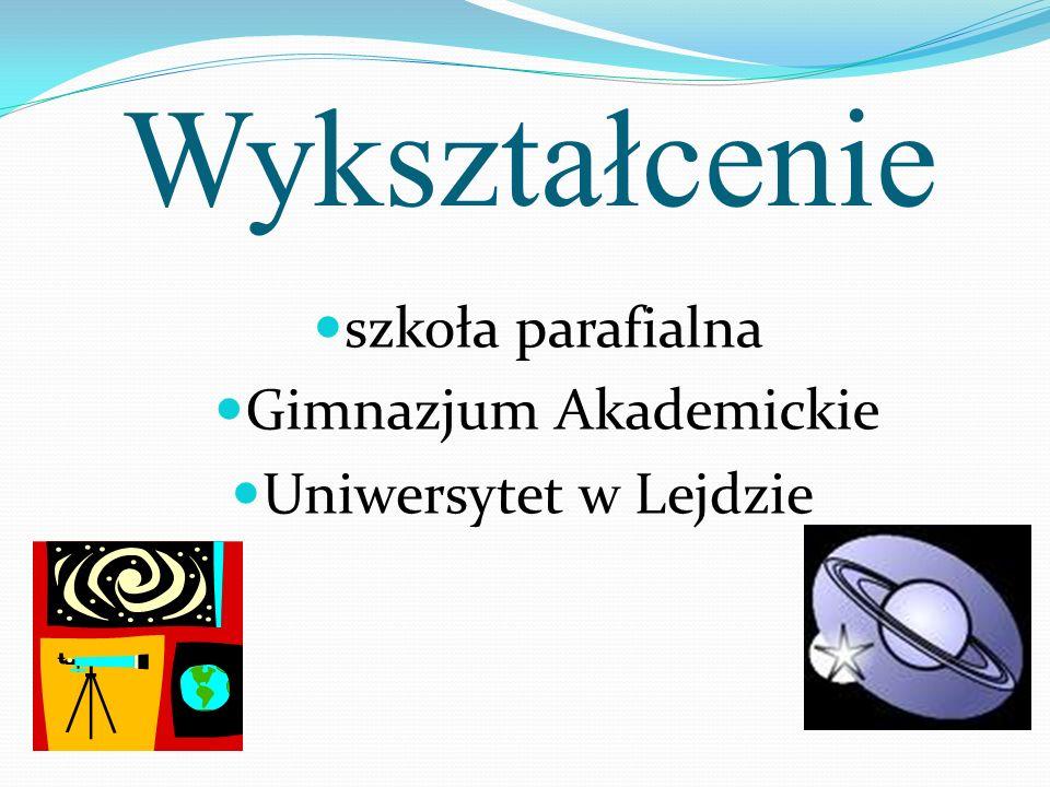 Wykształcenie szkoła parafialna Uniwersytet w Lejdzie Gimnazjum Akademickie
