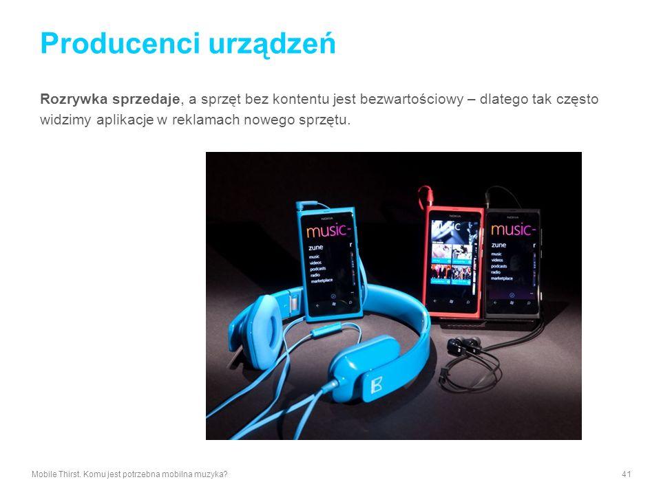Producenci urządzeń Rozrywka sprzedaje, a sprzęt bez kontentu jest bezwartościowy – dlatego tak często widzimy aplikacje w reklamach nowego sprzętu. M