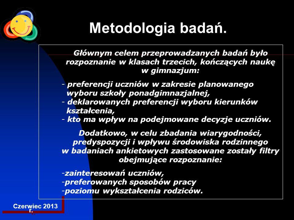 EGZAMINACYJNA CENTRALNA KOMISJA Metodologia badań, cd.1.