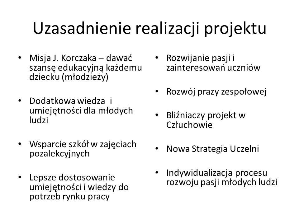 Uzasadnienie realizacji projektu Misja J.