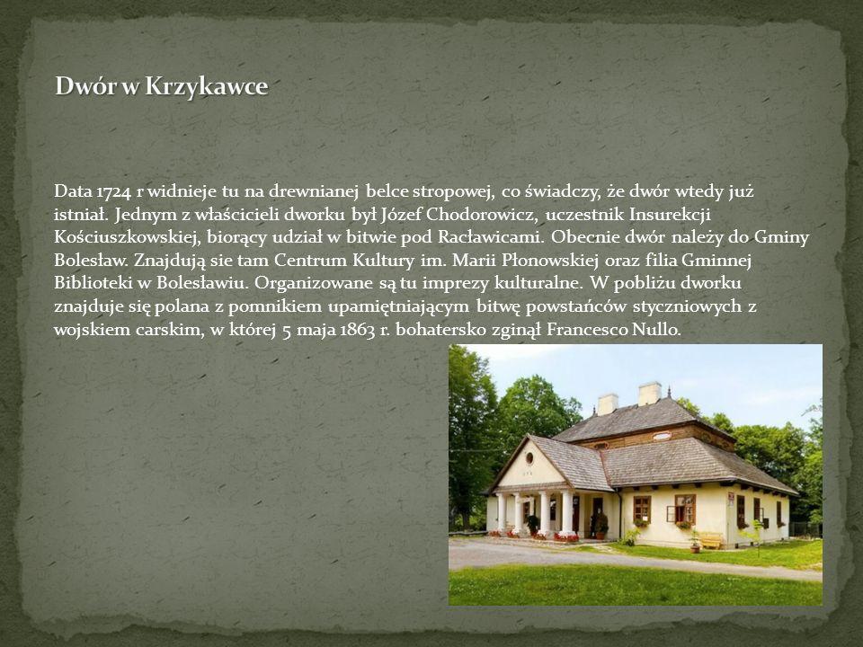 Data 1724 r widnieje tu na drewnianej belce stropowej, co świadczy, że dwór wtedy już istniał. Jednym z właścicieli dworku był Józef Chodorowicz, ucze