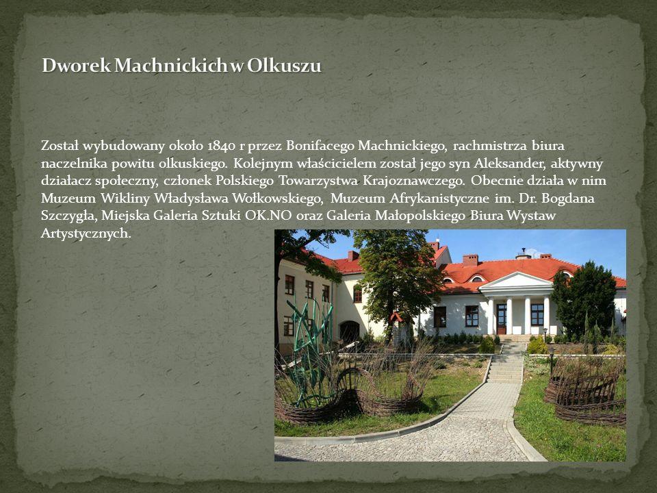 Został wybudowany około 1840 r przez Bonifacego Machnickiego, rachmistrza biura naczelnika powitu olkuskiego. Kolejnym właścicielem został jego syn Al