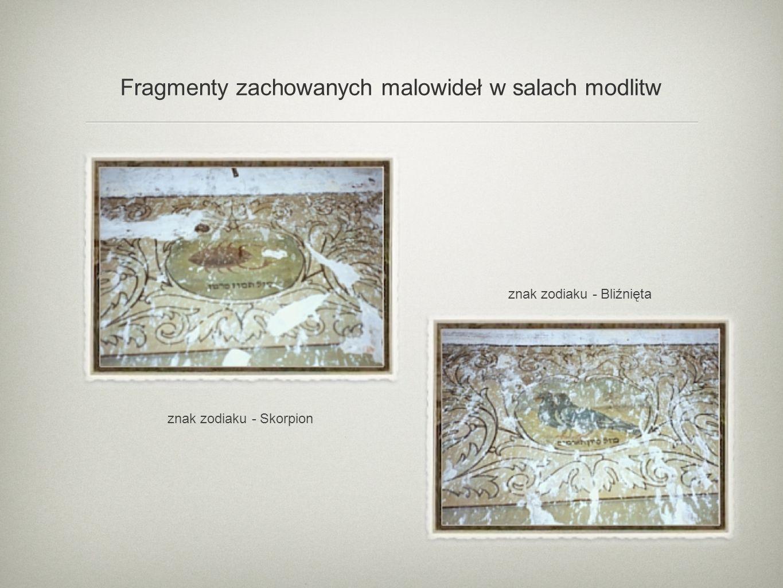 Fragmenty zachowanych malowideł w salach modlitw znak zodiaku - Skorpion znak zodiaku - Bliźnięta