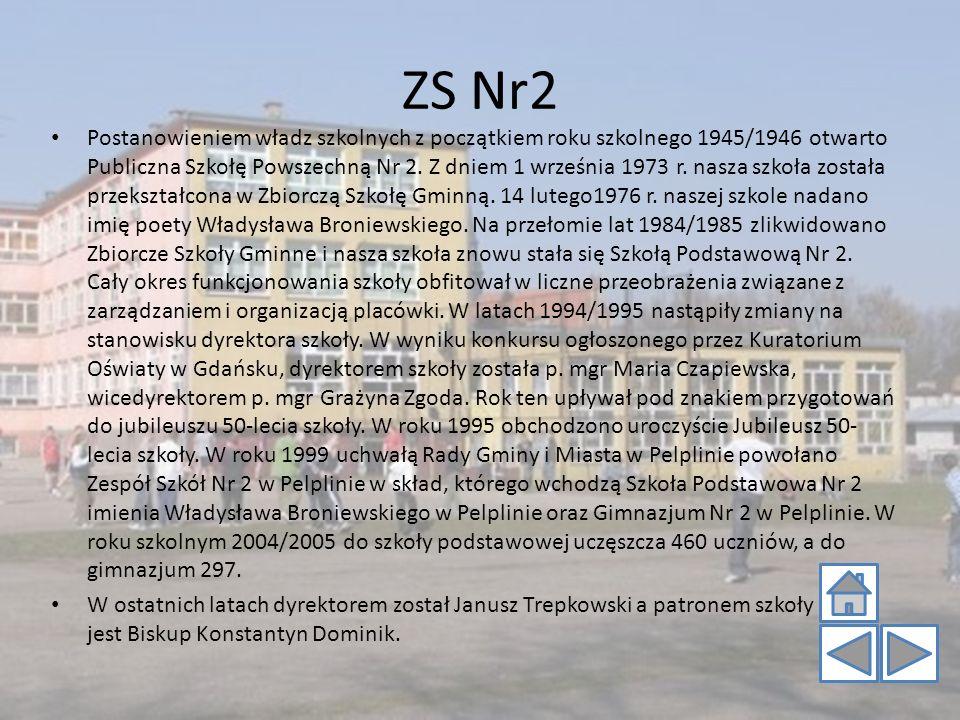 ZS Nr2 Postanowieniem władz szkolnych z początkiem roku szkolnego 1945/1946 otwarto Publiczna Szkołę Powszechną Nr 2. Z dniem 1 września 1973 r. nasza