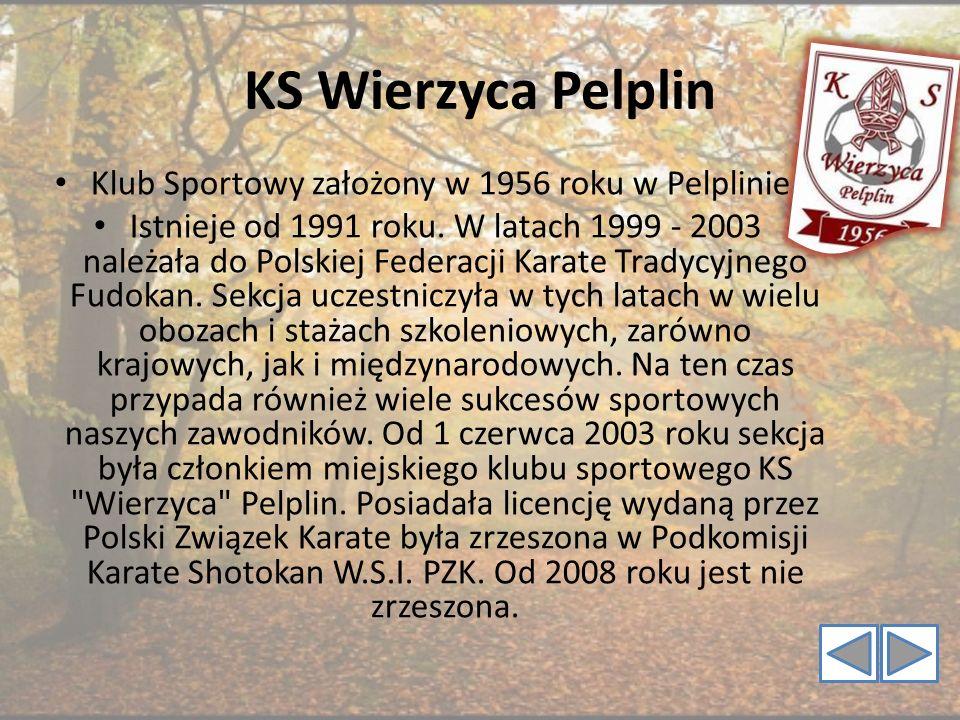KS Wierzyca Pelplin Klub Sportowy założony w 1956 roku w Pelplinie. Istnieje od 1991 roku. W latach 1999 - 2003 należała do Polskiej Federacji Karate