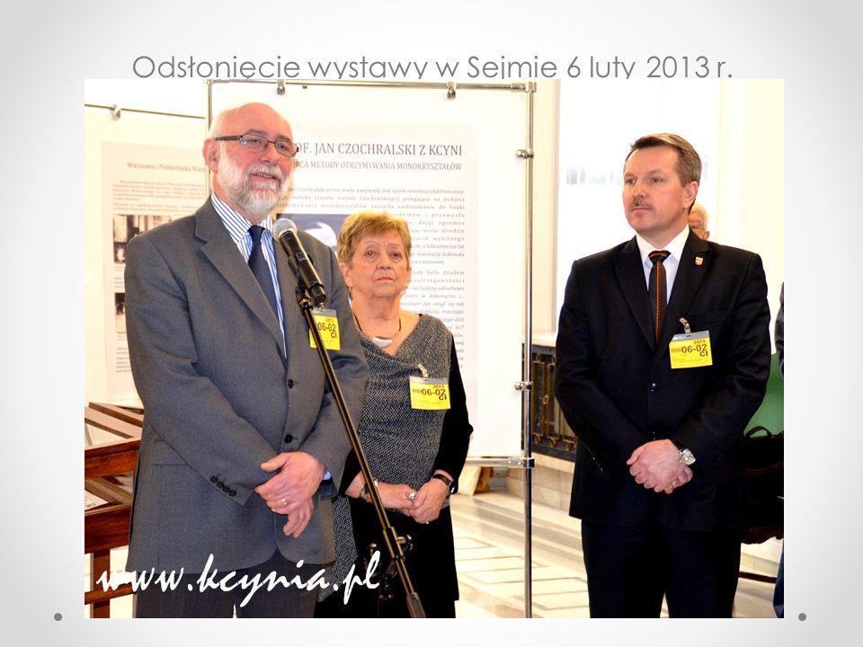 Otwarcie wystawy Odsłonięcie wystawy w Sejmie 6 luty 2013 r.