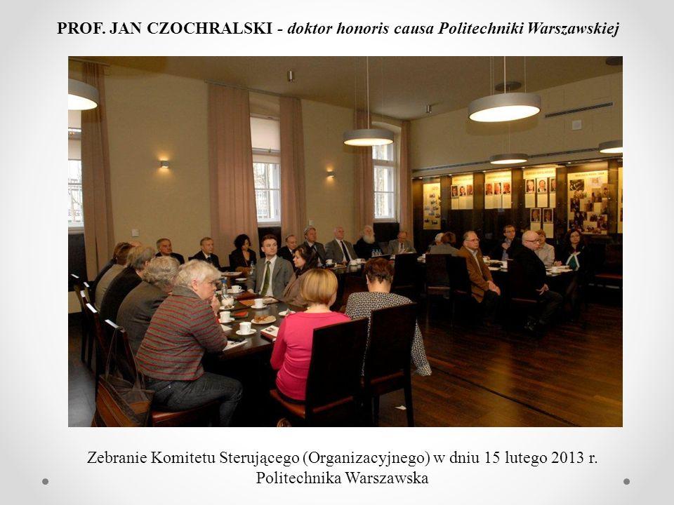 Dziękuję wszystkim, którzy przyczynili się do ujawnienia prawdy o Profesorze Janie Czochralskim Mirosław Nader - Politechnika Warszawska PROF. JAN CZO