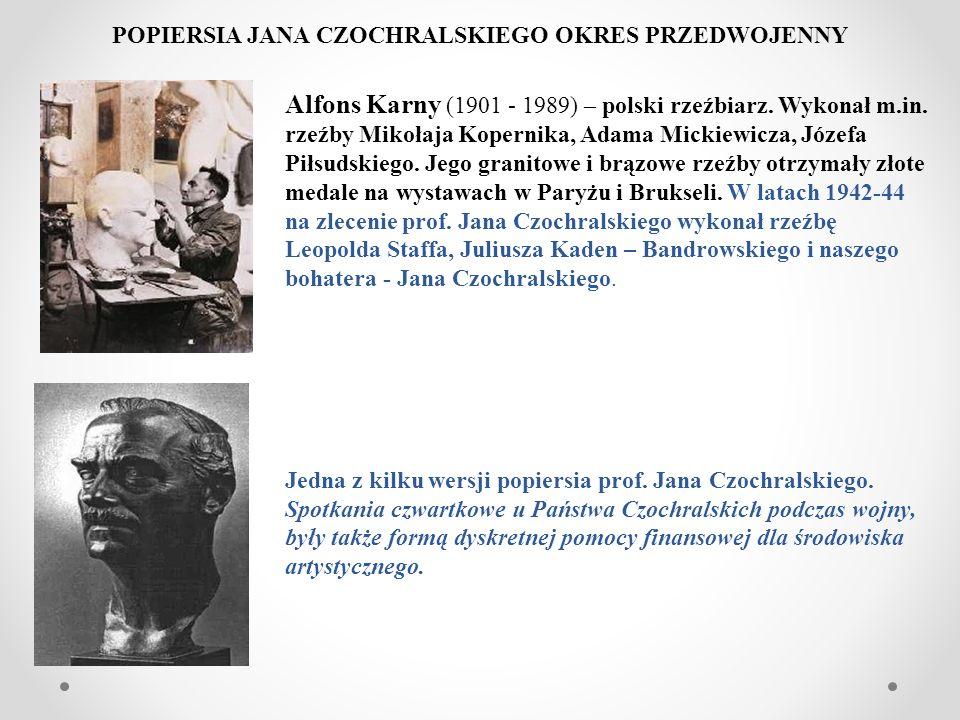 Alfons Karny (1901 - 1989) – polski rzeźbiarz. Wykonał m.in. rzeźby Mikołaja Kopernika, Adama Mickiewicza, Józefa Piłsudskiego. Jego granitowe i brązo
