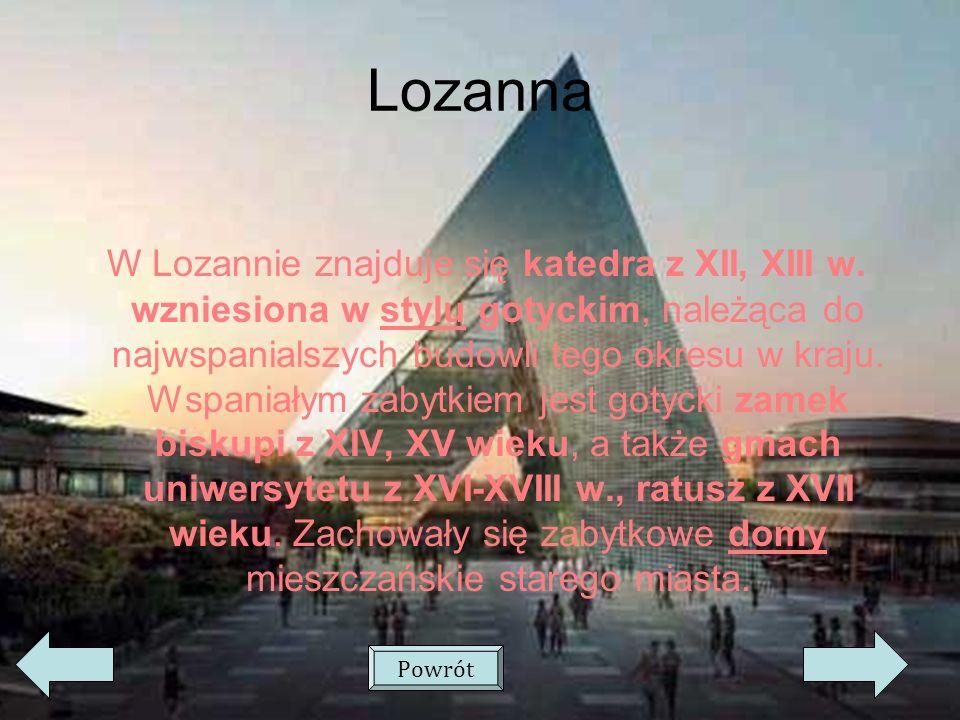 Lozanna W Lozannie znajduje się katedra z XII, XIII w.
