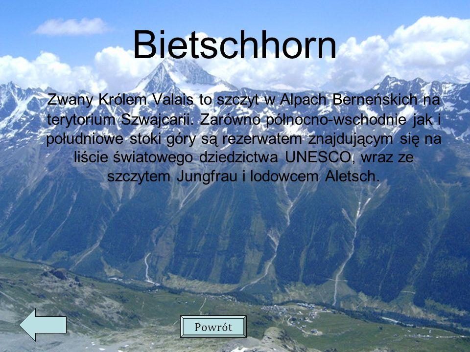 Bietschhorn Zwany Królem Valais to szczyt w Alpach Berneńskich na terytorium Szwajcarii.