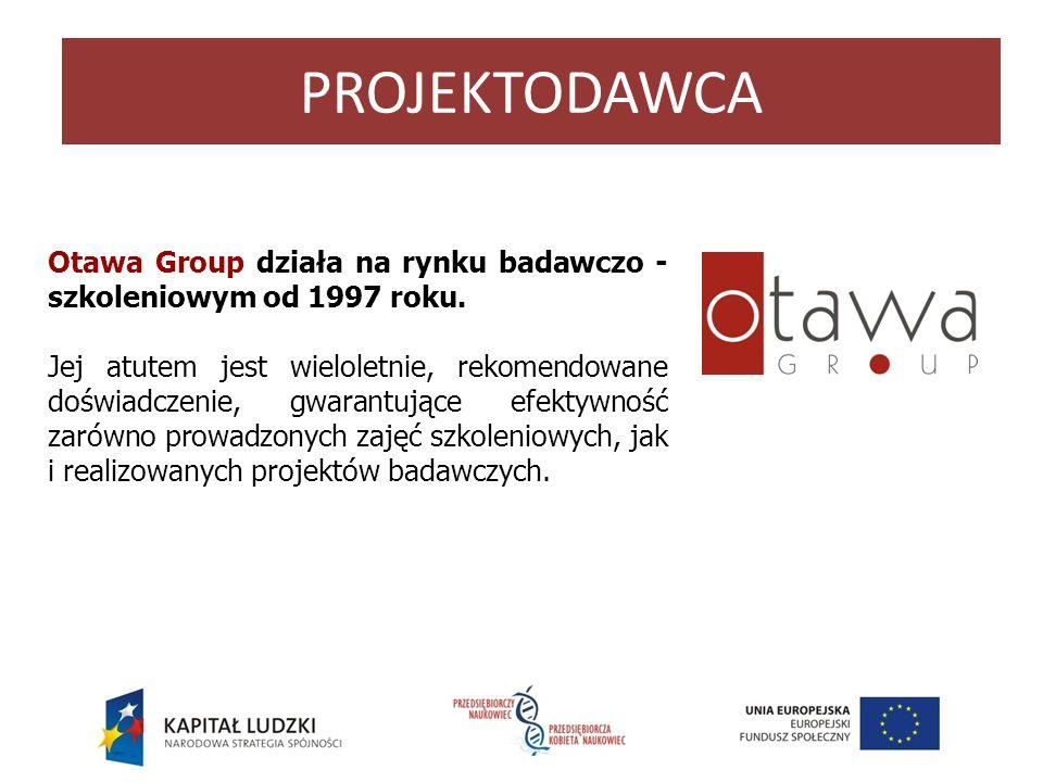 Otawa Group działa na rynku badawczo - szkoleniowym od 1997 roku. Jej atutem jest wieloletnie, rekomendowane doświadczenie, gwarantujące efektywność z