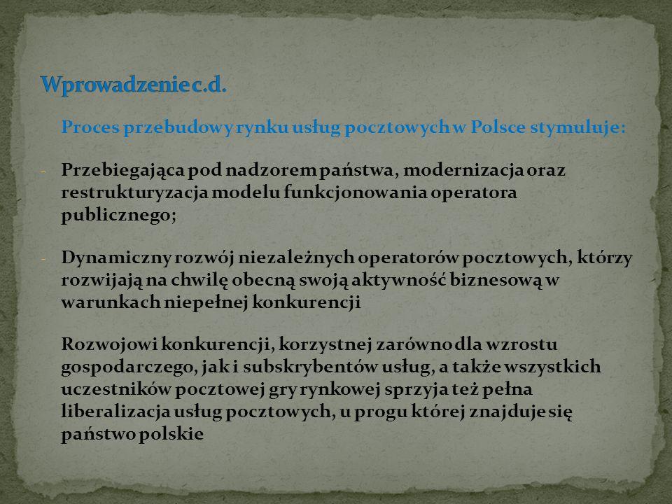Zidentyfikowanie w trakcie analizy obowiązującego w Polsce Prawa pocztowego oraz przepisów wykonawczych i administracyjnych, przy uwzględnieniu ustawodawstwa Wspólnotowego, pozwala zidentyfikować praktyczne obszary, na których warto się skoncentrować w dalszym procesie legislacji nowego Prawa pocztowego.