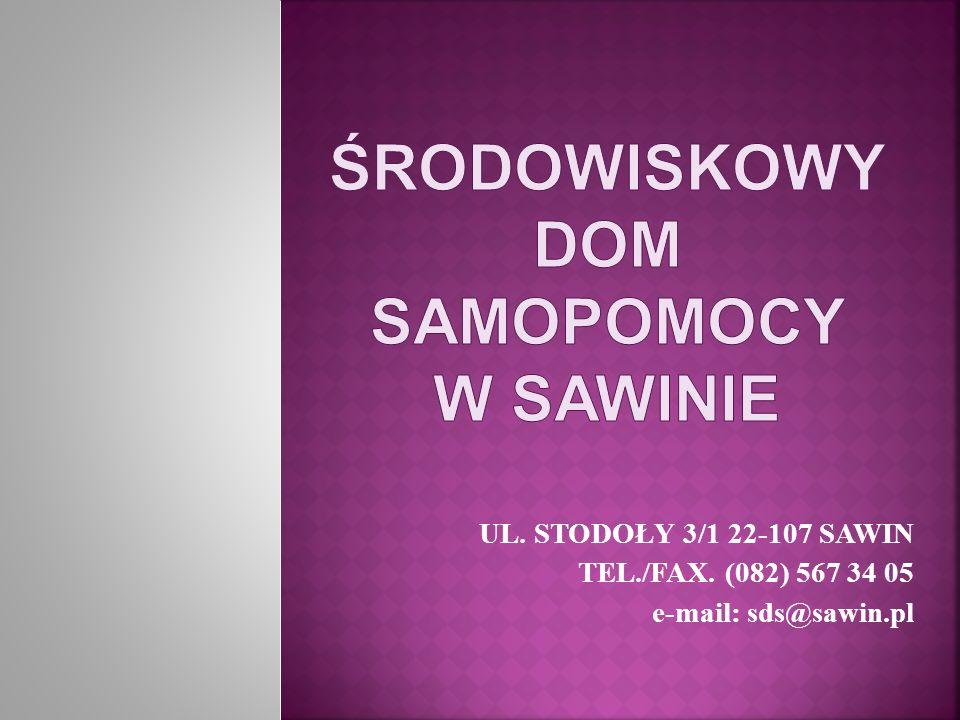 UL. STODOŁY 3/1 22-107 SAWIN TEL./FAX. (082) 567 34 05 e-mail: sds@sawin.pl